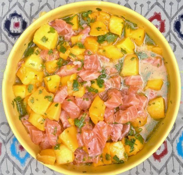 Une recette de saumon en folie